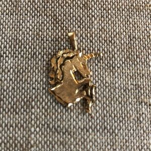 14k gold unicorn pendant